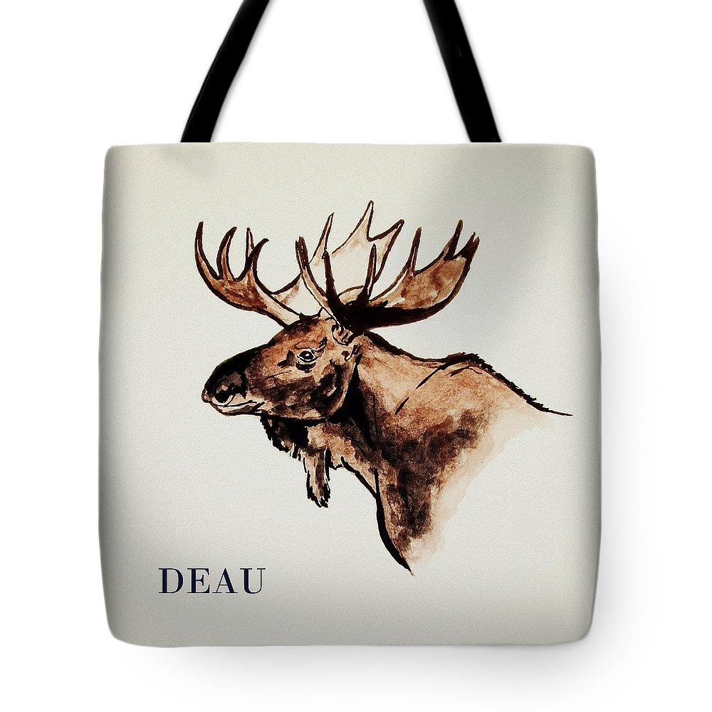 Stockholm Tote Bag featuring the painting Stockholms' Moose by Dominique Janssens