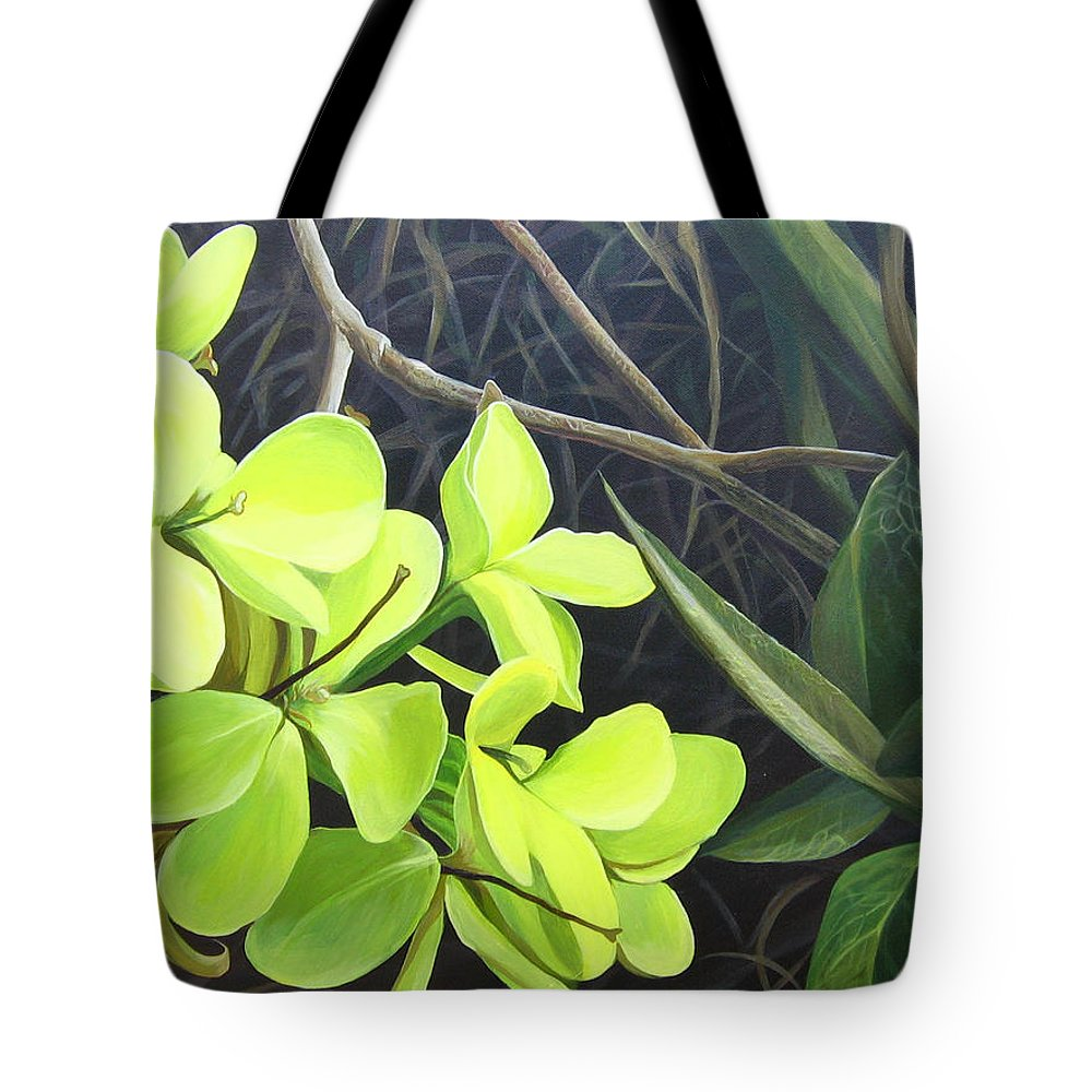 Wildflower Tote Bag featuring the painting Stolen Moments by Hunter Jay