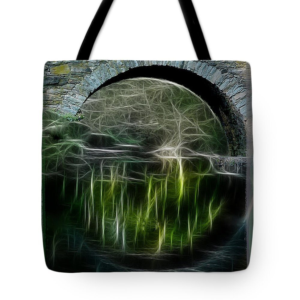 Bridge Tote Bag featuring the photograph Stone Arch Bridge - Ny by Ericamaxine Price