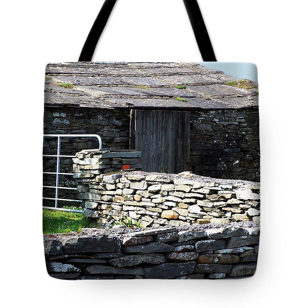 Irish Tote Bag featuring the photograph Stone Barn Doolin Ireland by Teresa Mucha