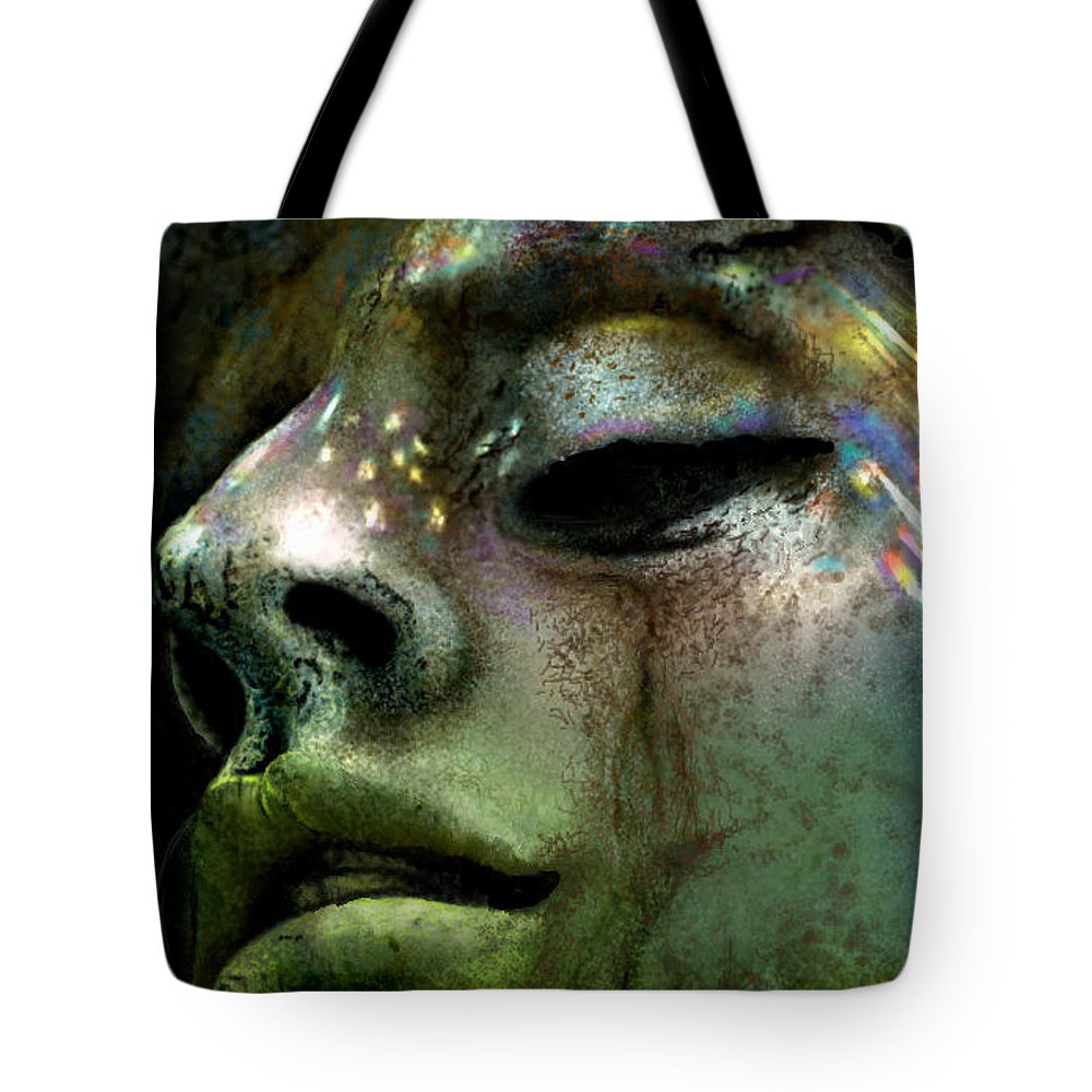Stone Tote Bag featuring the digital art Stone Beauty by Ellen Dawson