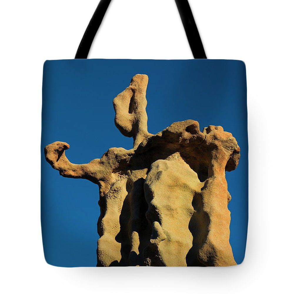 Siltstone Tote Bag featuring the photograph Stone Bot by Mike Dawson