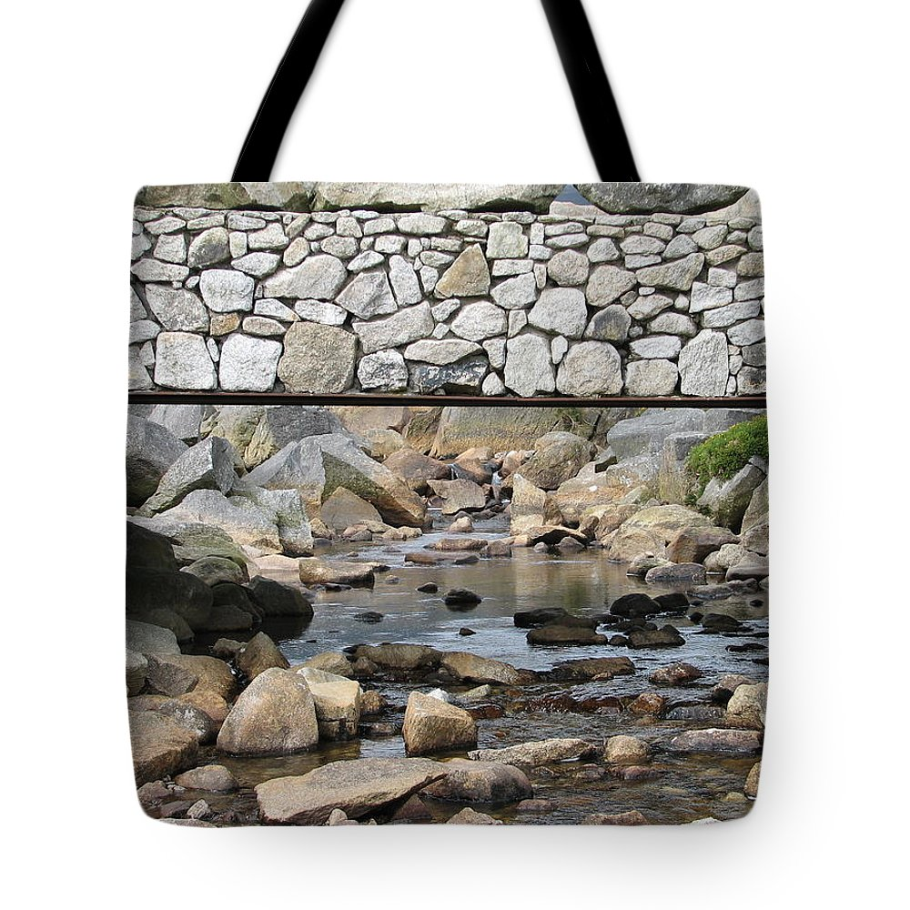 Stone Tote Bag featuring the photograph Stone Bridge by Kelly Mezzapelle
