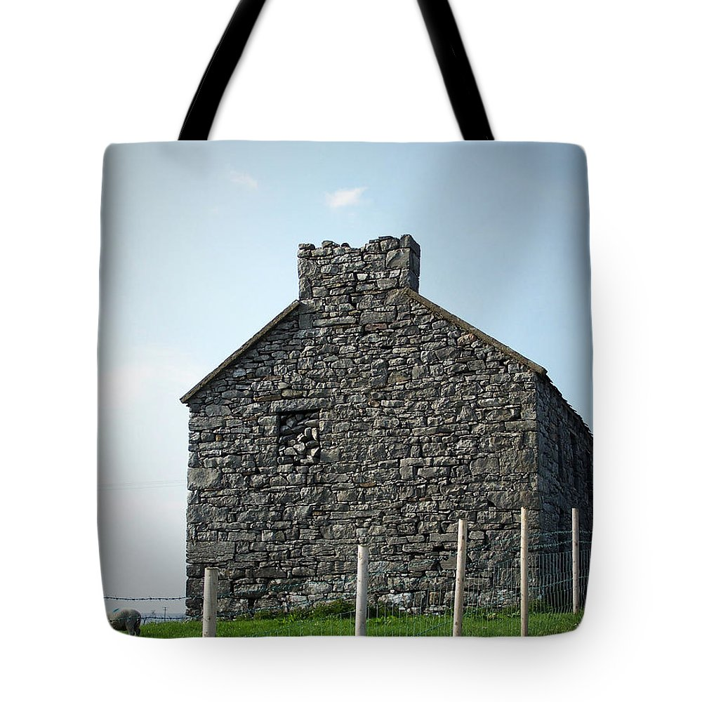 Irish Tote Bag featuring the photograph Stone Building Maam Ireland by Teresa Mucha