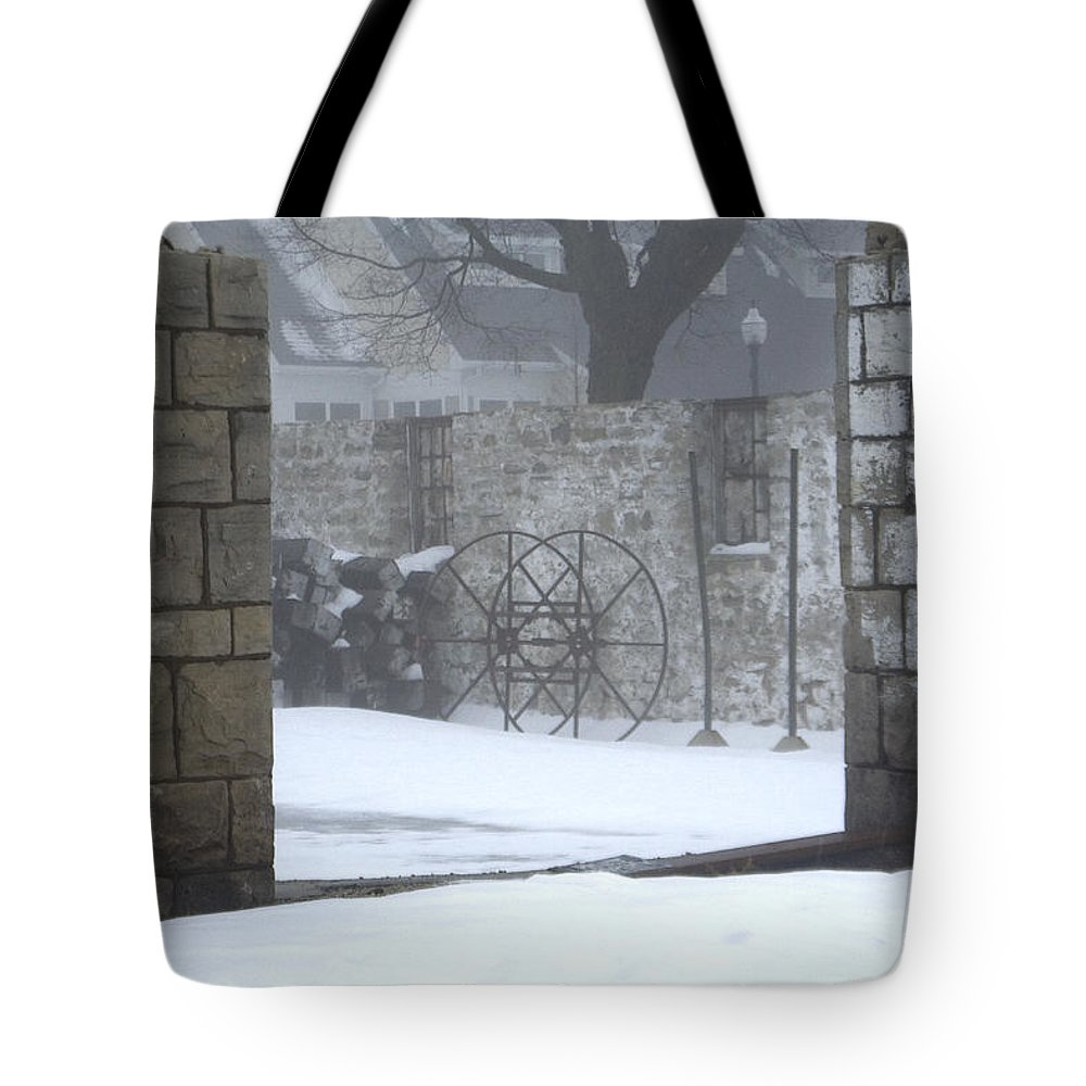 Winter Tote Bag featuring the photograph Stone Cellar by Tim Nyberg