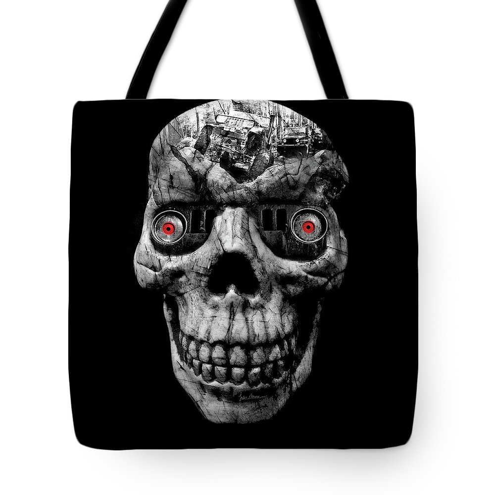 Jeep Tote Bag featuring the photograph Stone Cold Jeeper Cyborg No. 1 by Luke Moore