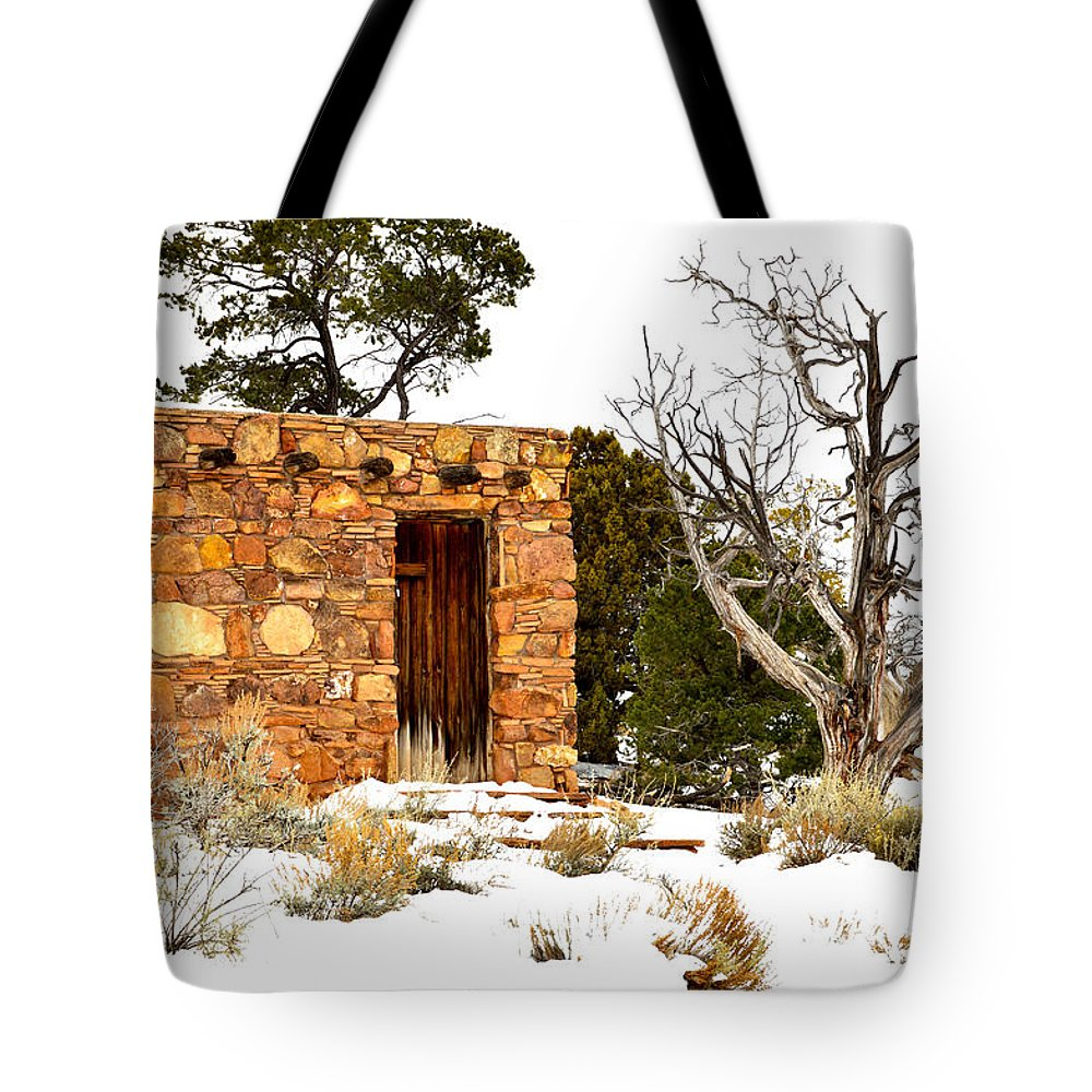 Stone Tote Bag featuring the photograph Stone House by Mauverneen Blevins