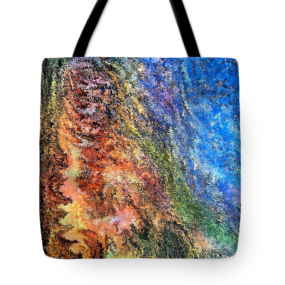 Contemporary Tote Bag featuring the painting Stone Man By Rafi Talby by Rafi Talby