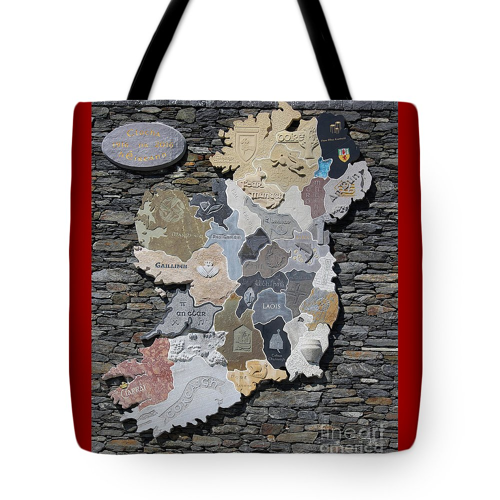 Stone Tote Bag featuring the photograph Stone Map Of Ireland by Eddie Barron