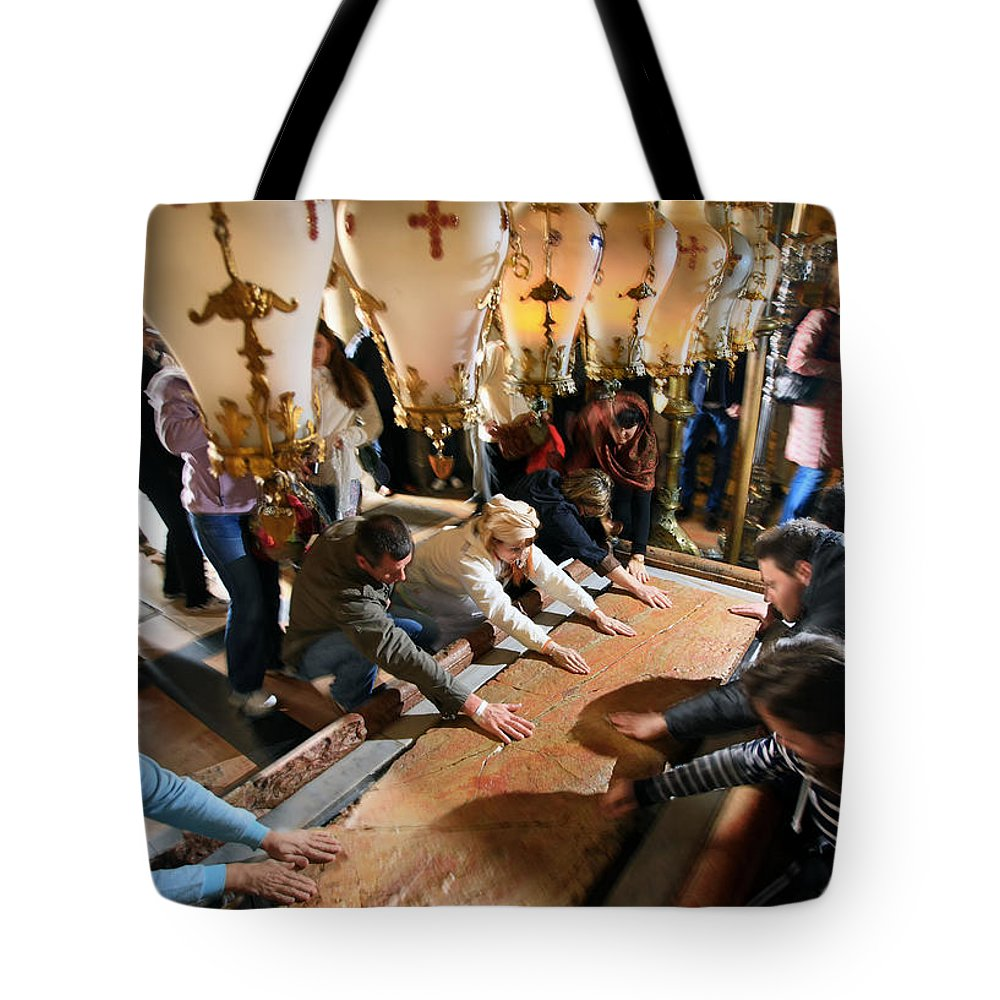 Stone Of Unction Tote Bag featuring the photograph Stone Of Anointing by Zoriy Fine