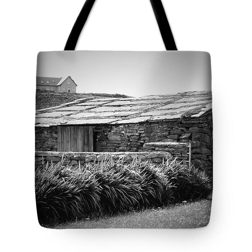 Irish Tote Bag featuring the photograph Stone Structure Doolin Ireland by Teresa Mucha