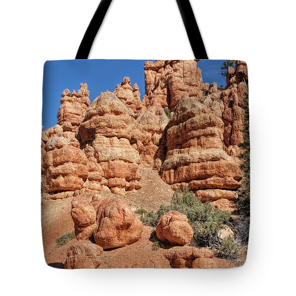 John Bailey Tote Bag featuring the photograph Stone Toadstools by John M Bailey