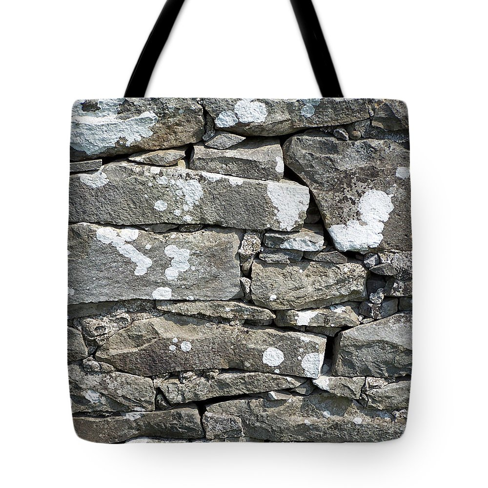 Irish Tote Bag featuring the photograph Stone Wall Detail Doolin Ireland by Teresa Mucha