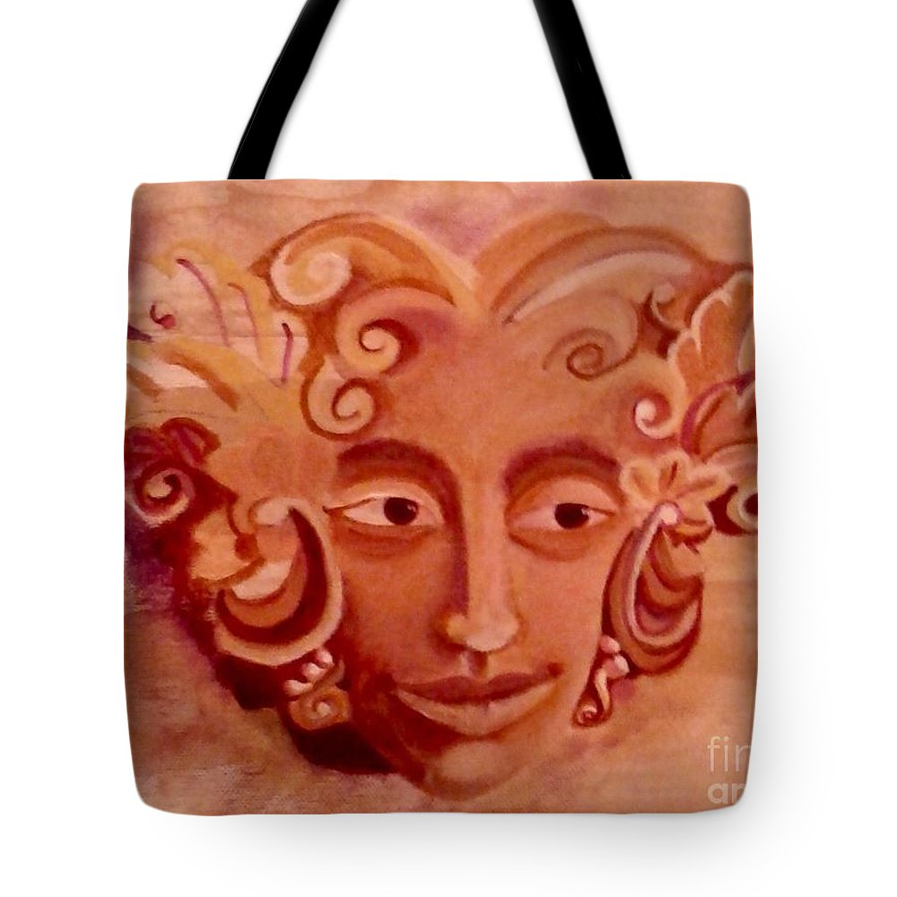 Woman Tote Bag featuring the painting Stone Woman by Monica Pope