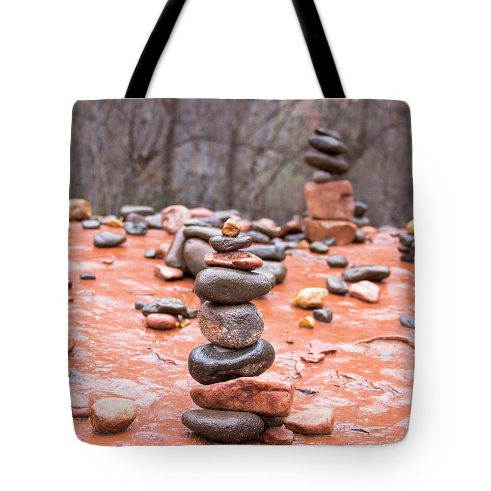 Stones Tote Bag featuring the photograph Stones In Balance by Amy Sorvillo