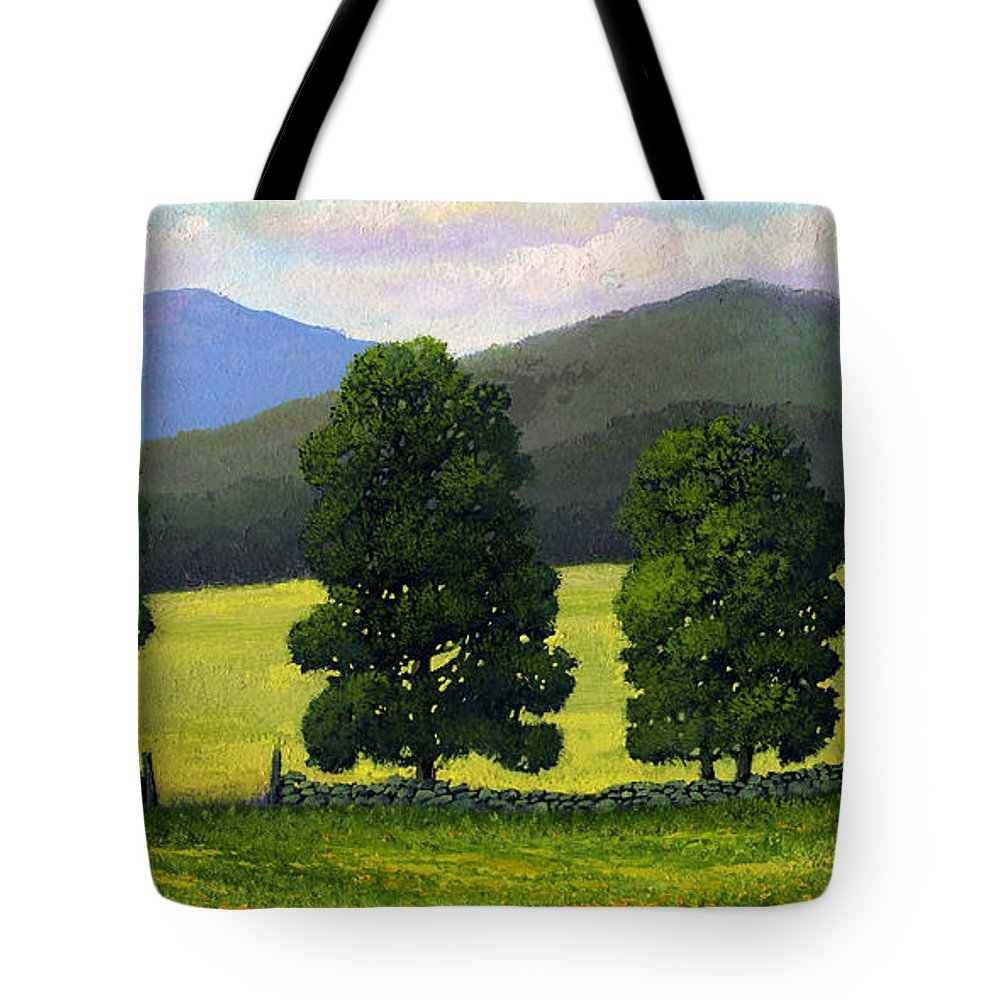 Landscape Tote Bag featuring the painting Stonewall Field by Frank Wilson
