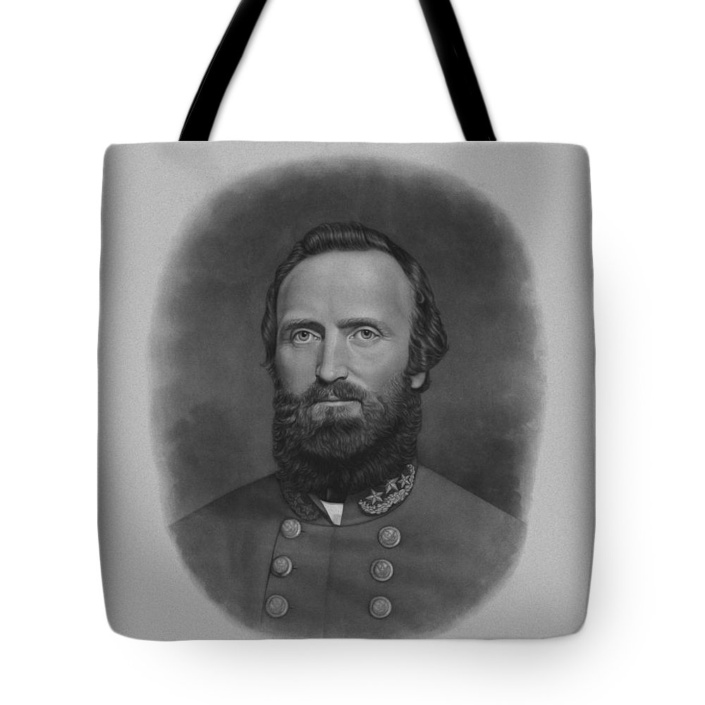 Stonewall Jackson Tote Bag featuring the drawing Stonewall Jackson by War Is Hell Store