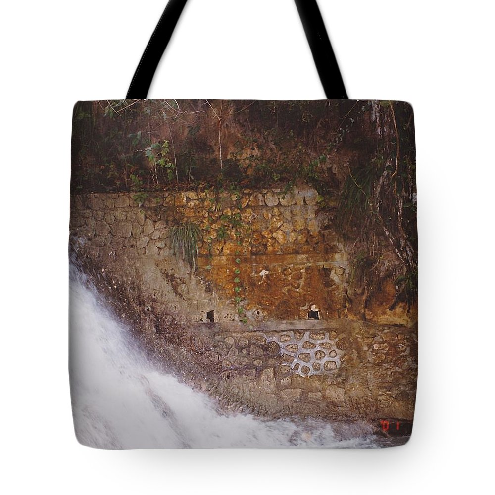 Brick Tote Bag featuring the photograph Stonewall by Michelle Powell