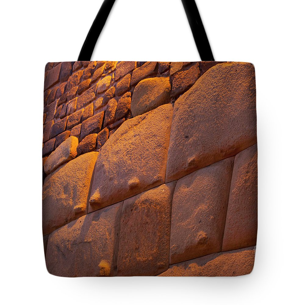 Cusco Tote Bag featuring the photograph Stonewalled by Bob Phillips