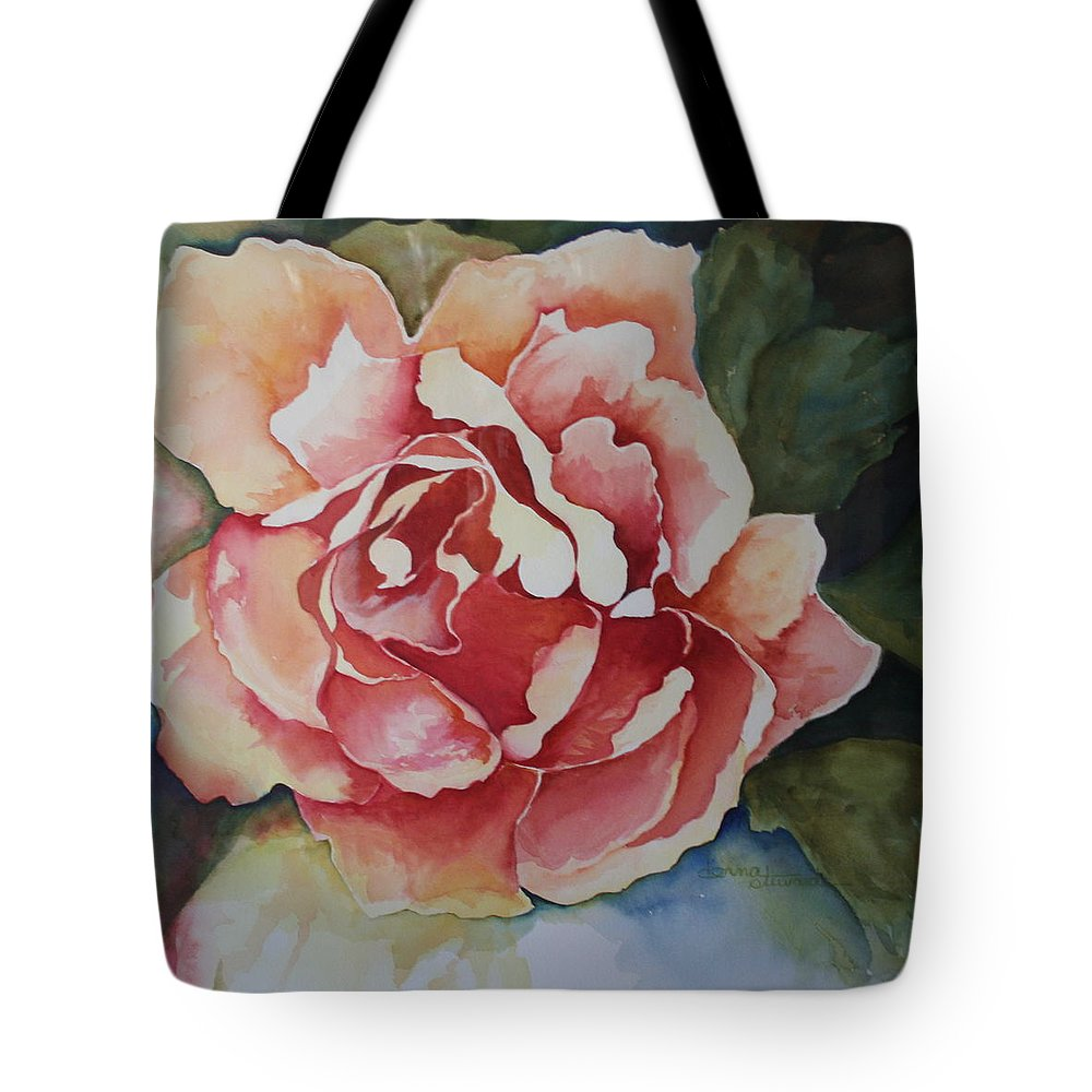 Flowers Tote Bag featuring the painting Stop And Smell The Roses by Donna Steward