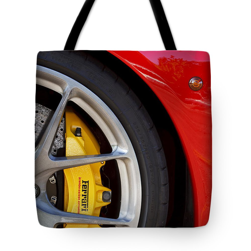 Ferrari Tote Bag featuring the photograph Stop It Red by Dennis Hedberg