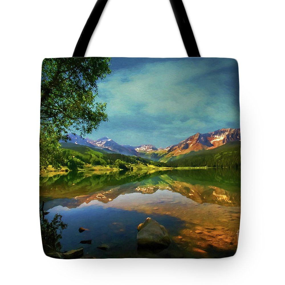 Trout Lake Tote Bag featuring the photograph Storm At Trout Lake by Priscilla Burgers