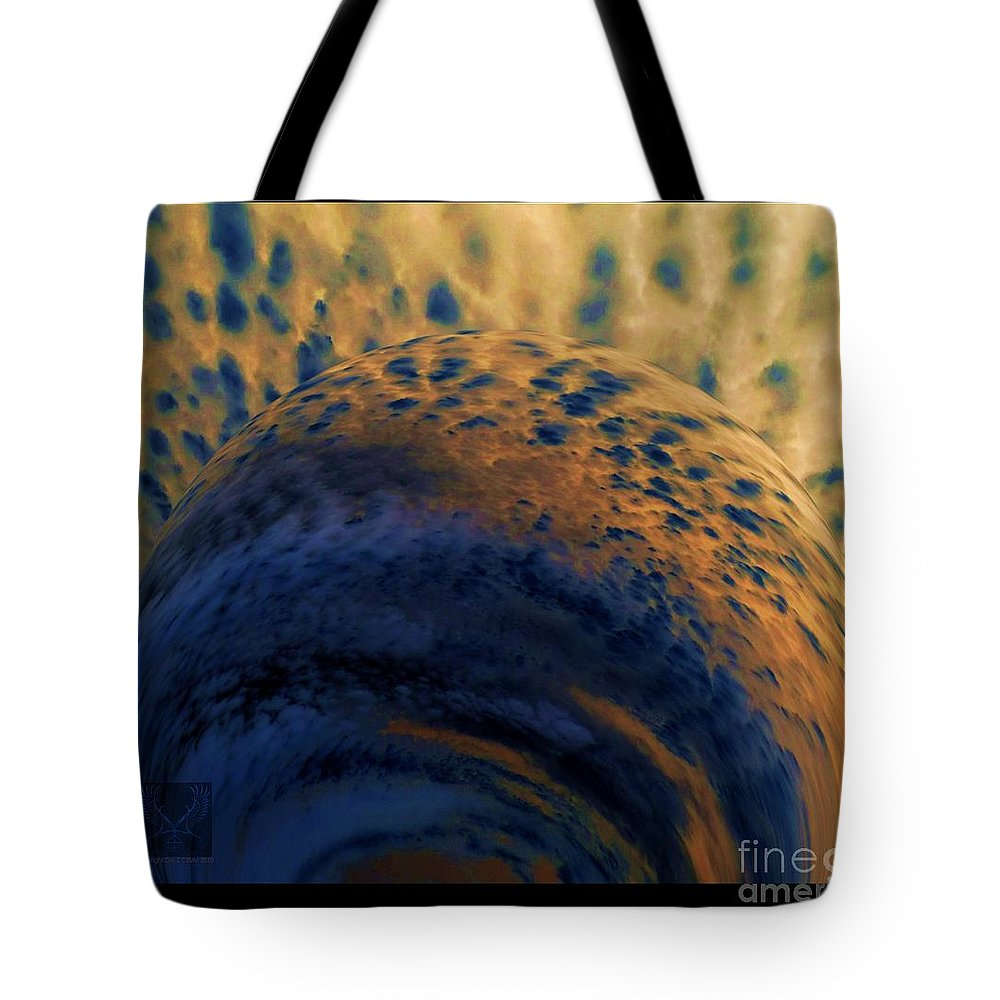 Colorful Tote Bag featuring the photograph Storm Brewing by Dale Crum