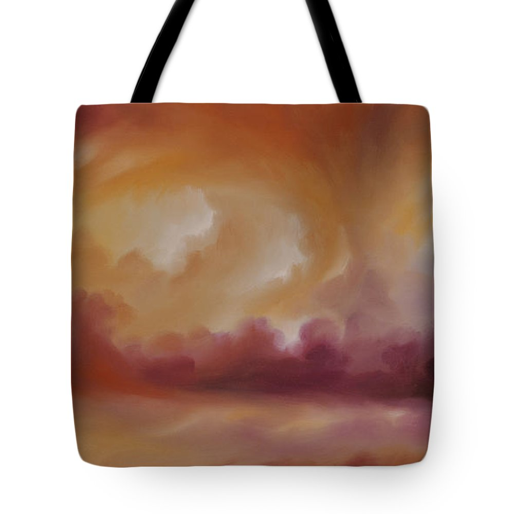 Tempest Tote Bag featuring the painting Storm Clouds 2 by James Christopher Hill