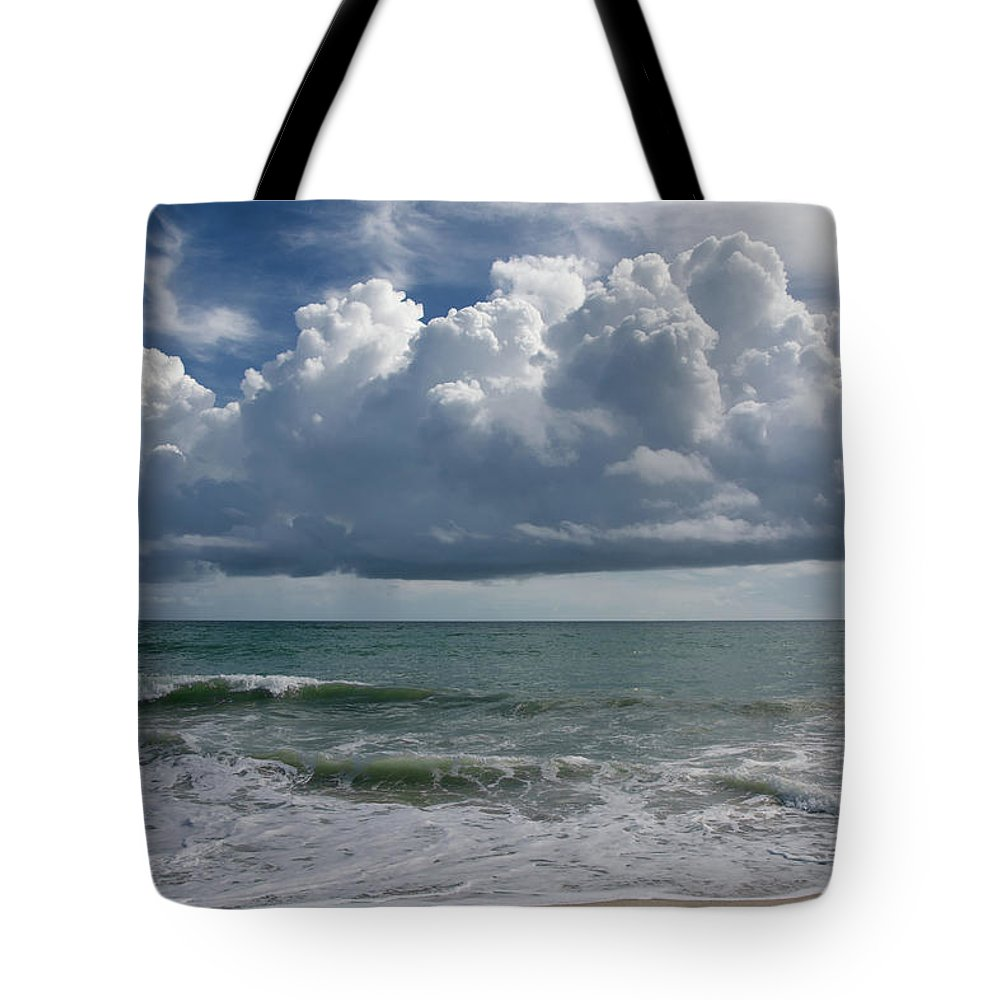 Storm Tote Bag featuring the photograph Storm Clouds Above The Atlantic Ocean by Zina Stromberg
