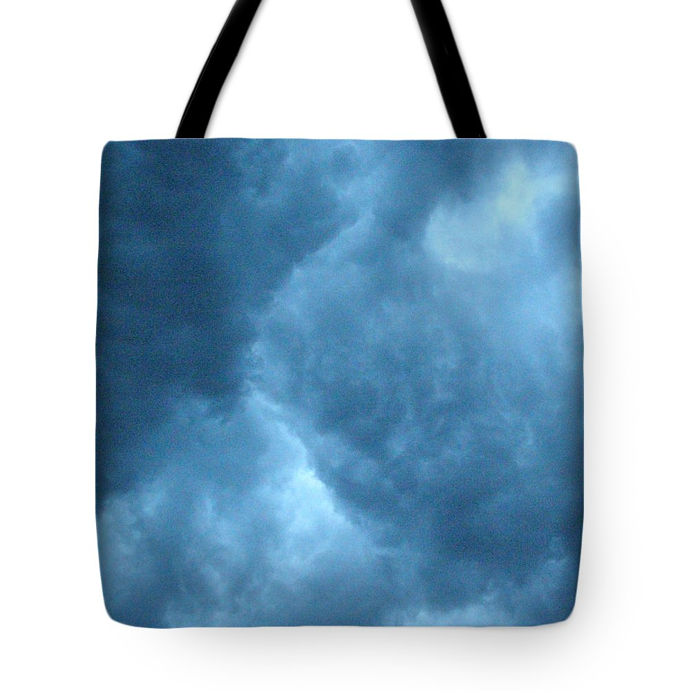 Storm Tote Bag featuring the photograph Storm Clouds by Angie Rea