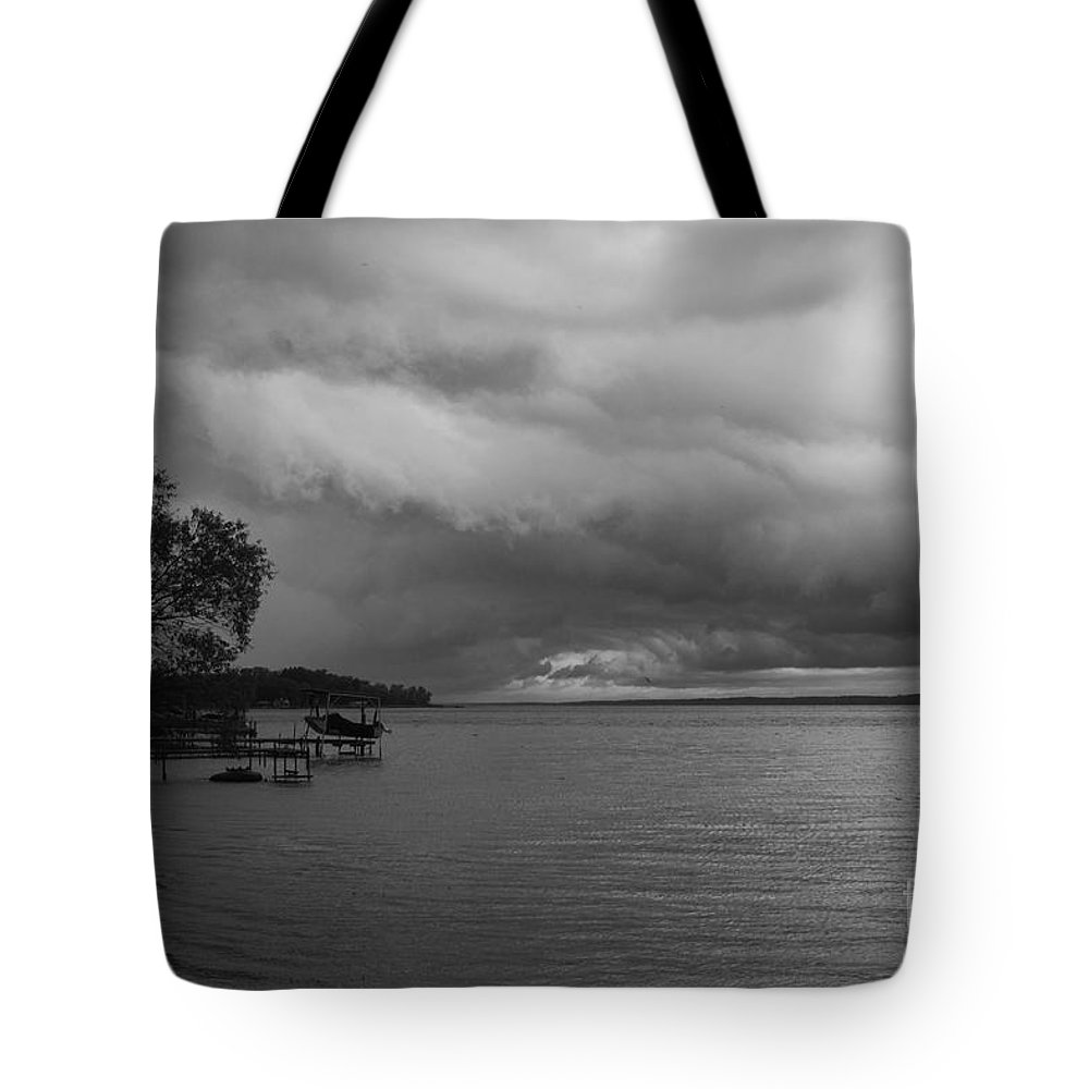 Seneca Lake Tote Bag featuring the photograph Storm Clouds by William Norton