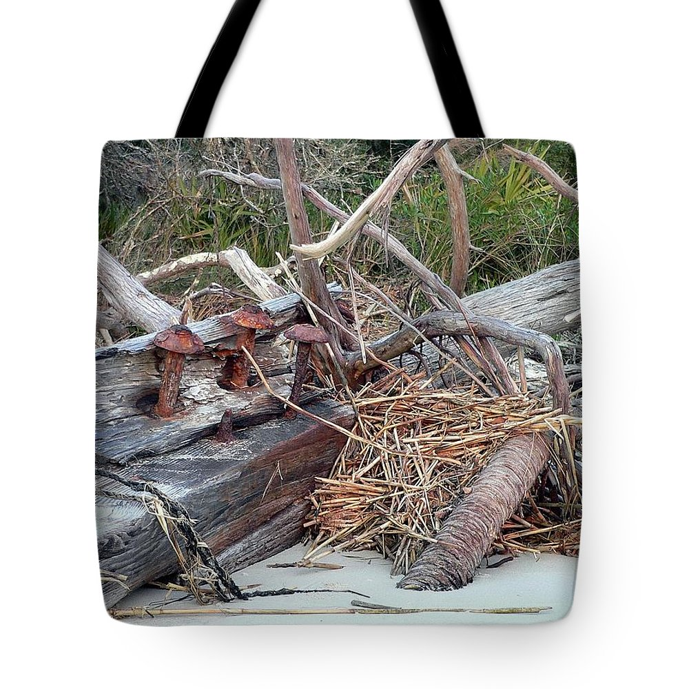 Storm Tote Bag featuring the photograph Storm Debris by Al Powell Photography USA