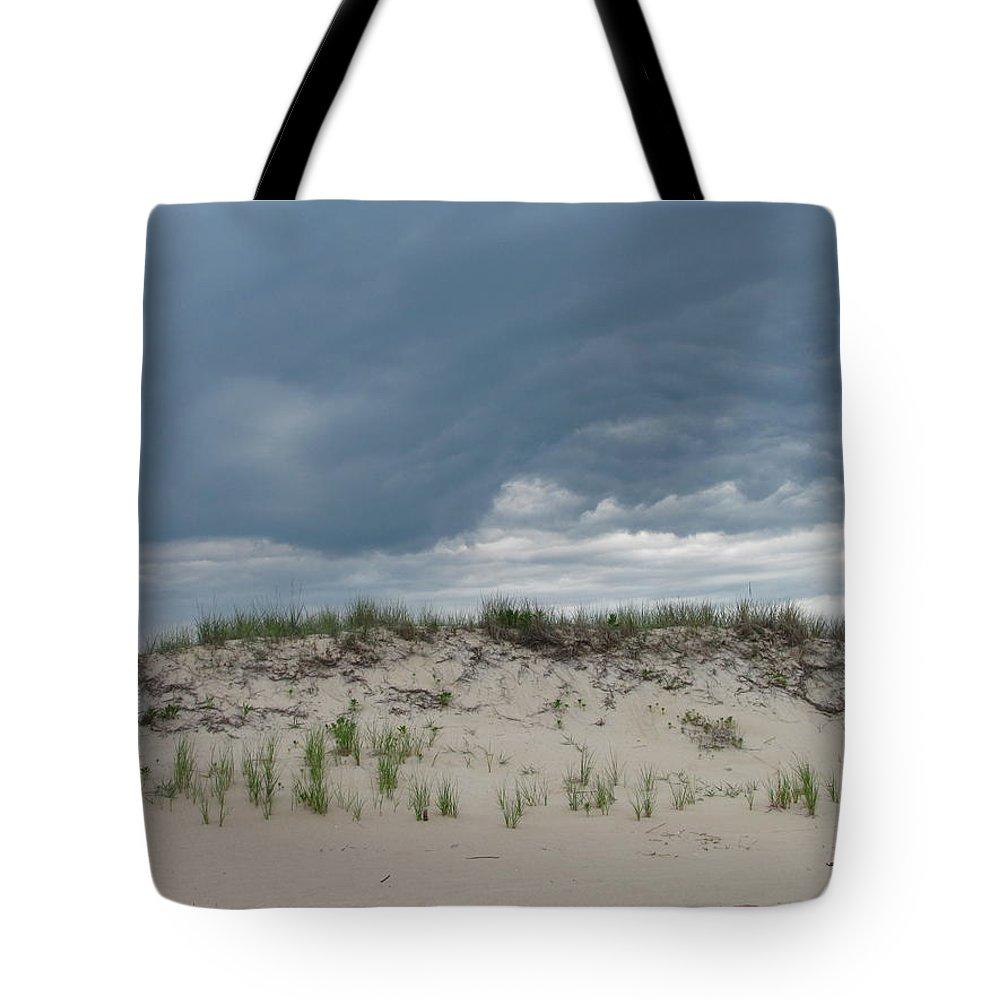 Storm Cloud Sand Dune Photograph Seashore Canvas Prints Landscape Tote Bag featuring the photograph Storm Dune by Joshua Bales