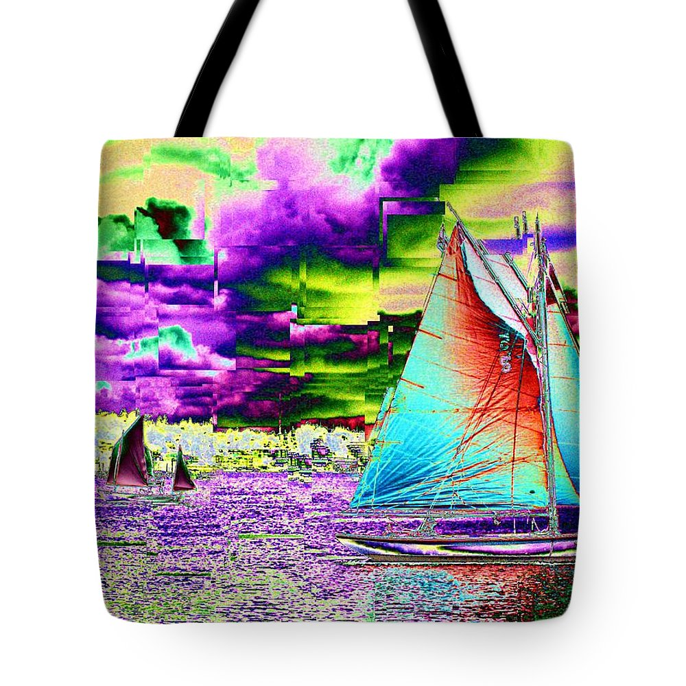 Seattle Tote Bag featuring the photograph Storm Front by Tim Allen