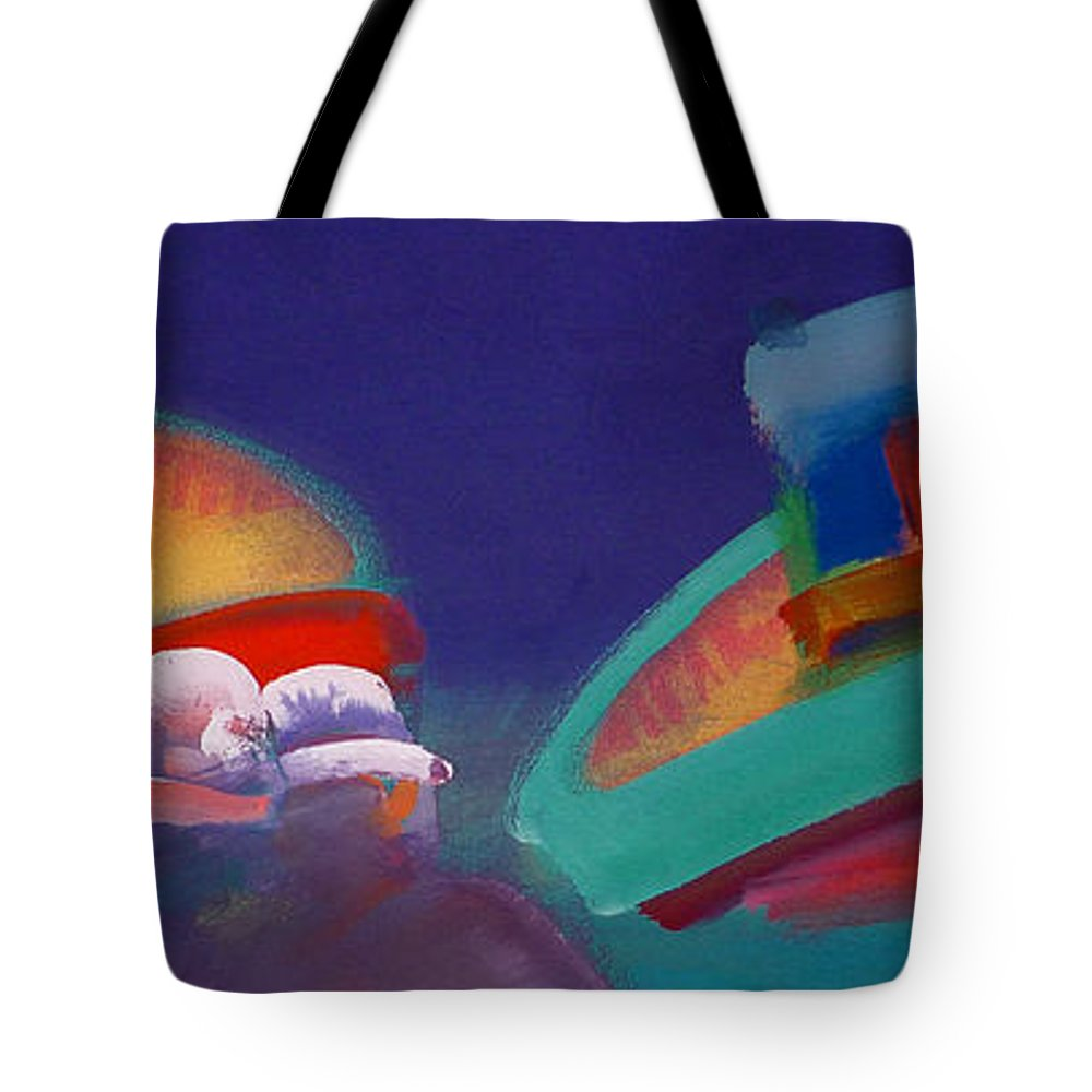 Storm Tote Bag featuring the painting Storm Horizon by Charles Stuart