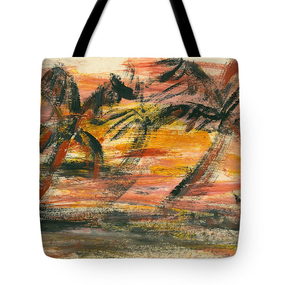 Stormy Tote Bag featuring the painting Storm by Jorge Delara
