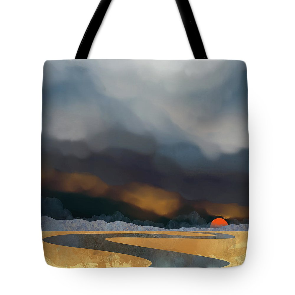 Storm Tote Bag featuring the digital art Storm Light by Spacefrog Designs