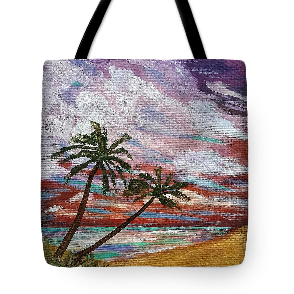 Storm Tote Bag featuring the painting Storm Of Contrast by Steve Duke - Artist