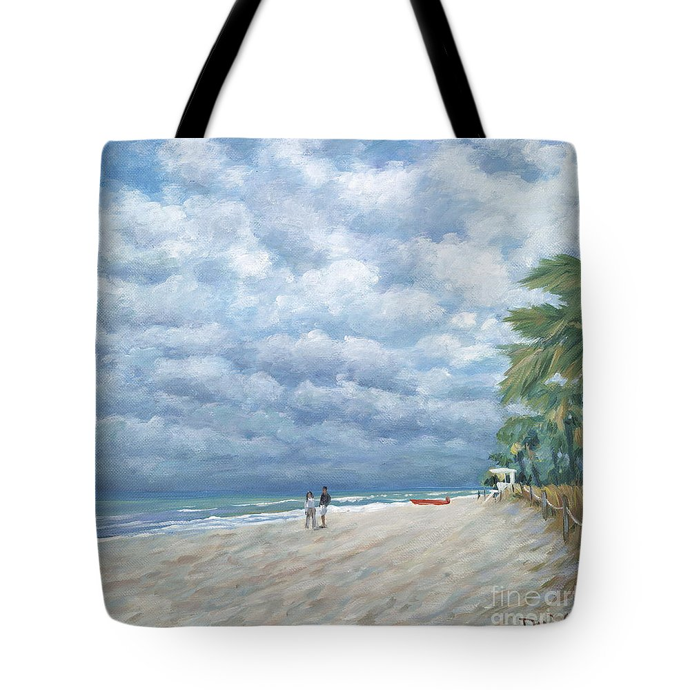 Fort Lauderdale Tote Bag featuring the painting Storm On The Horizon by Danielle Perry