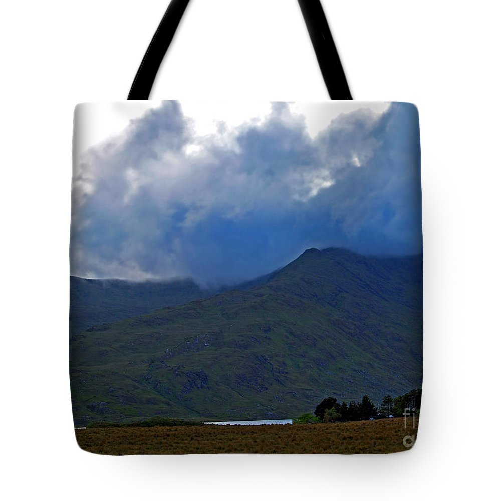 Fine Art Photography Tote Bag featuring the photograph Storm On The Horizon In Connemara by Patricia Griffin Brett
