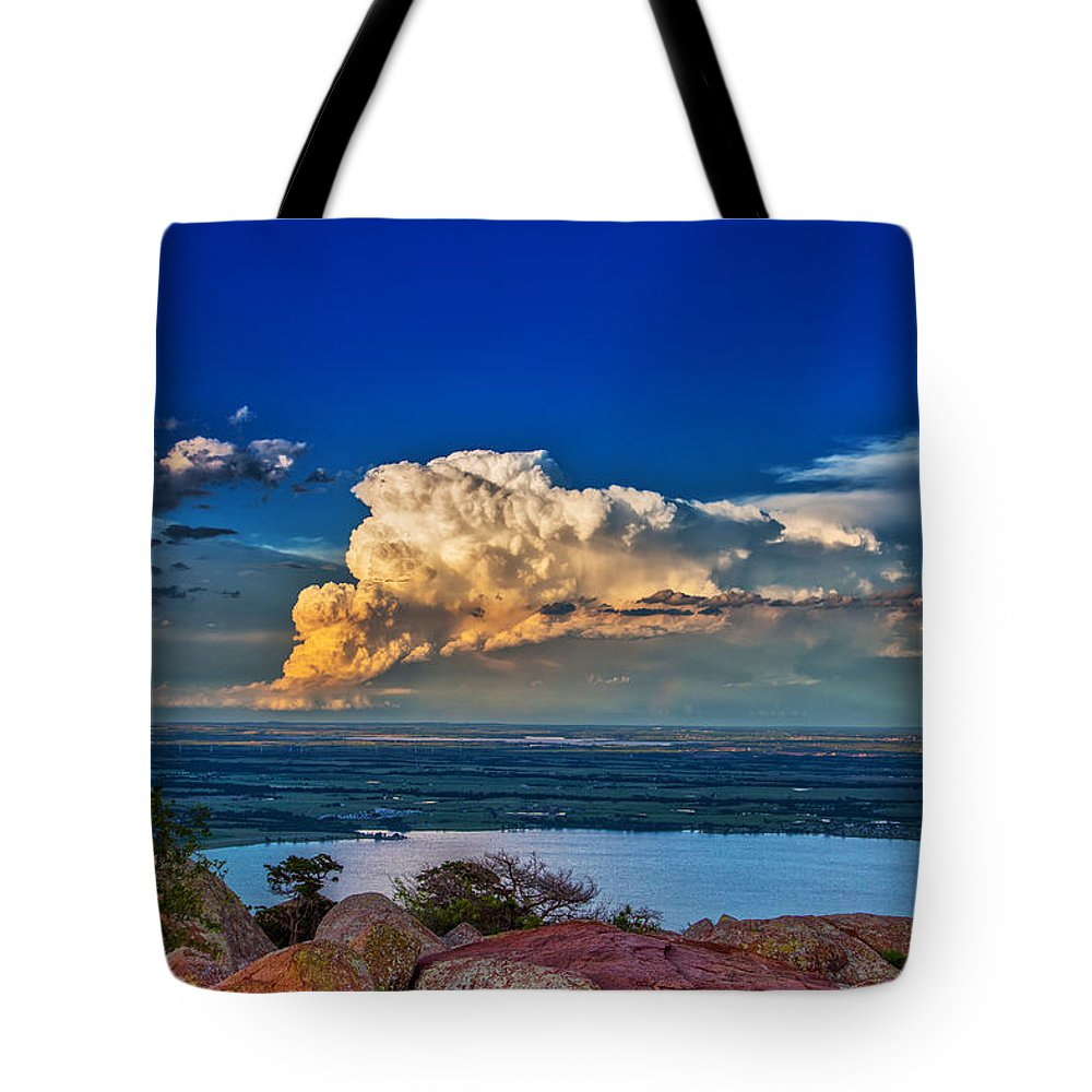 Supercell Tote Bag featuring the photograph Storm On The Horizon by James Menzies