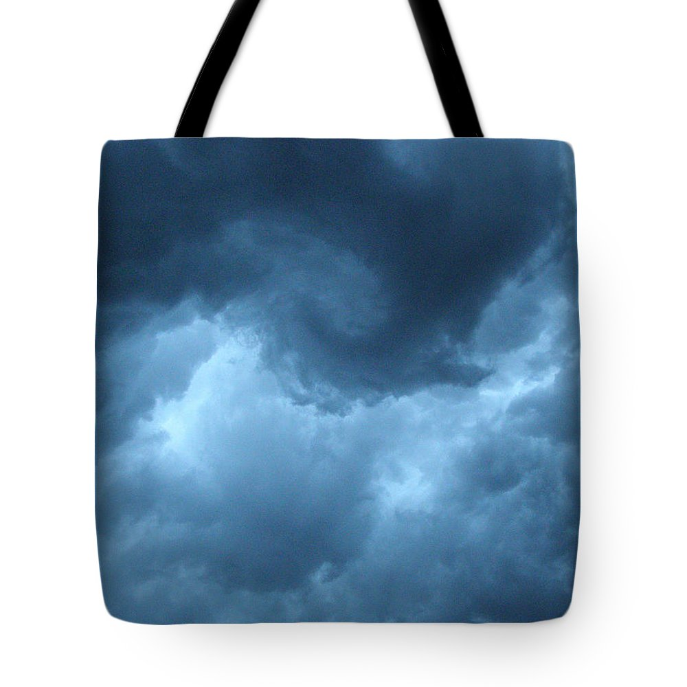Storm Tote Bag featuring the photograph Storm Rolling In by Angie Rea