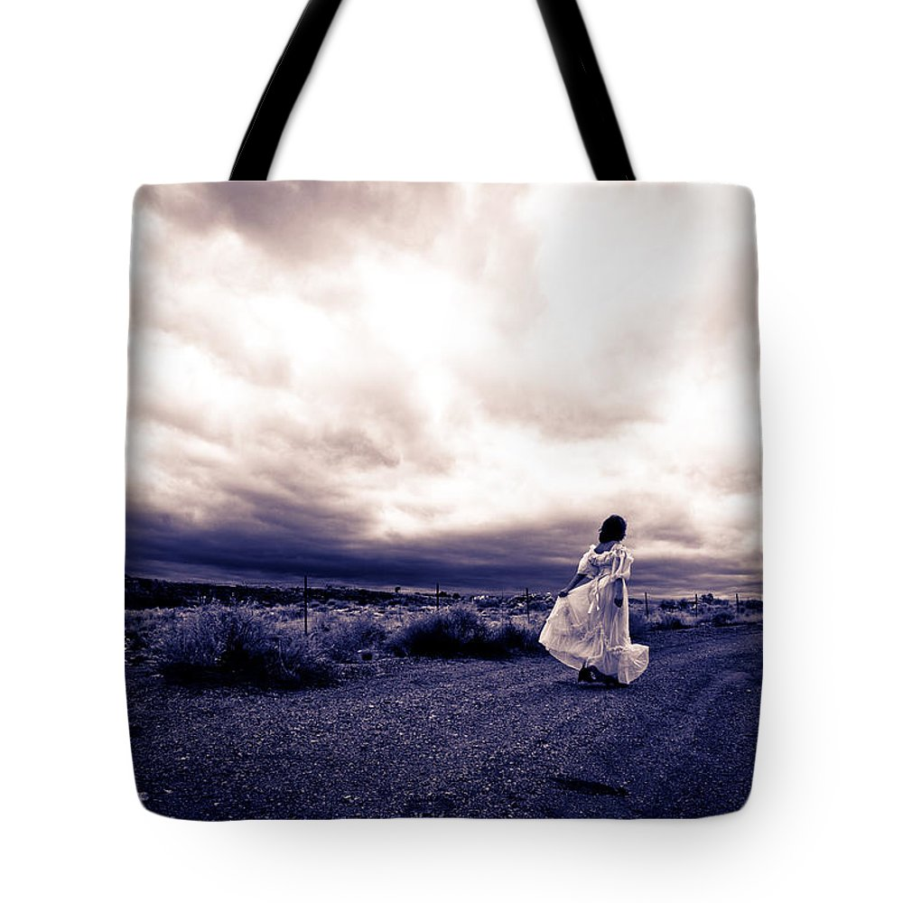 Storm Walk Tote Bag featuring the photograph Storm Walk by Scott Sawyer
