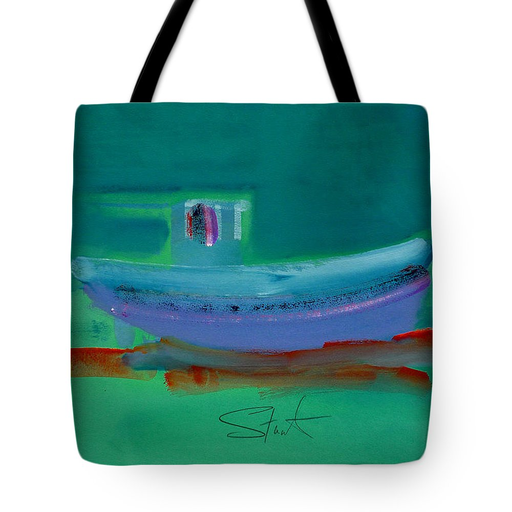 Deep Tote Bag featuring the painting Stormbringer by Charles Stuart