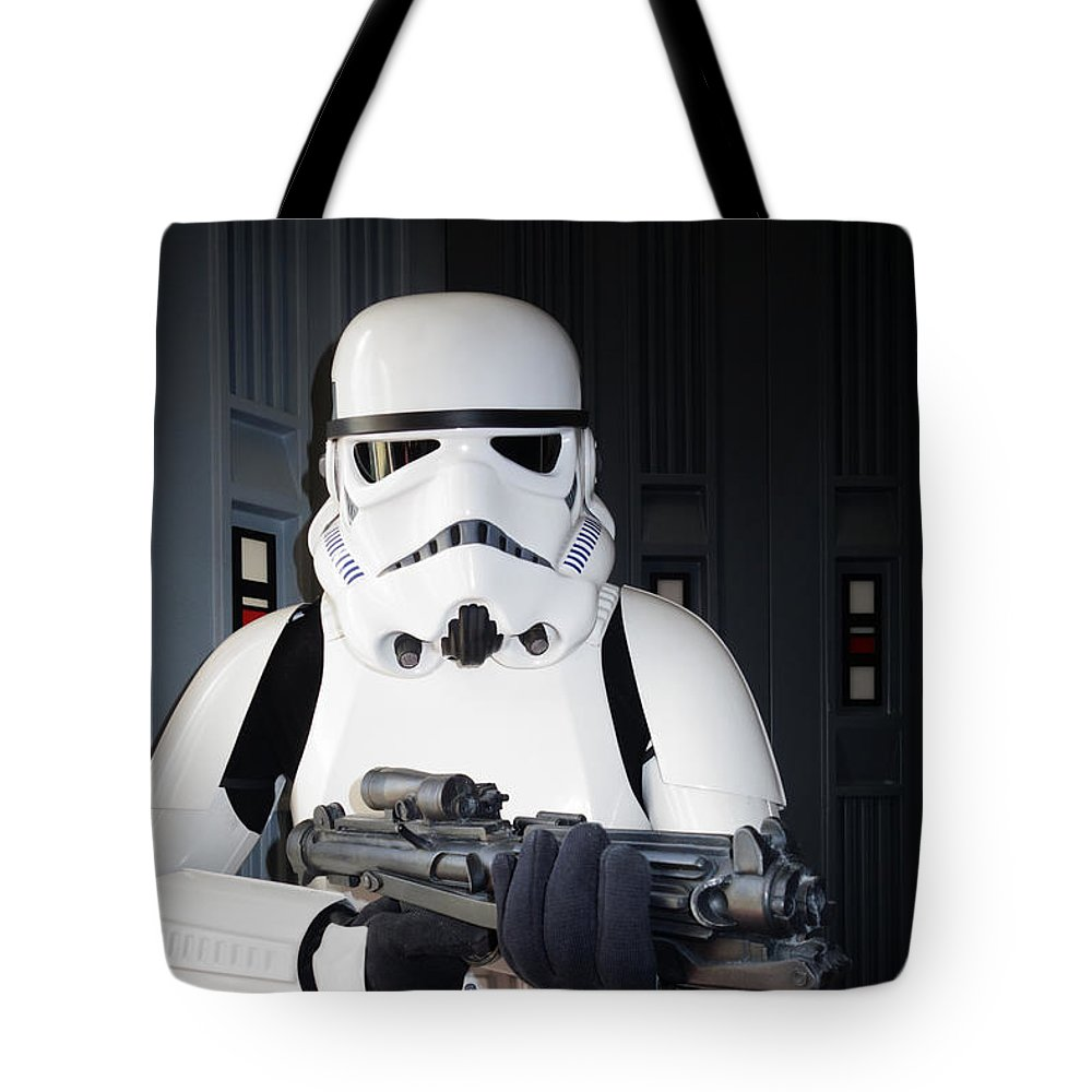Star Wars Characters Tote Bag featuring the photograph Stormtrooper by Nina Prommer