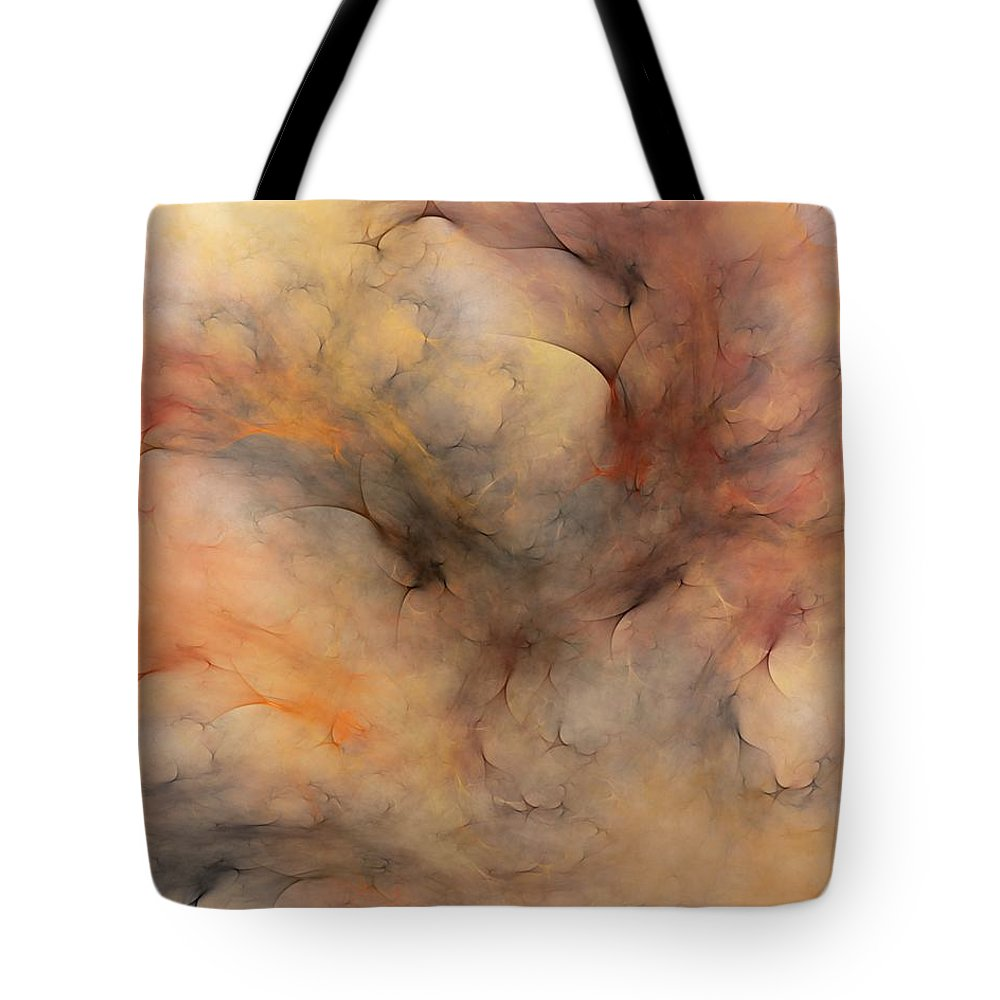 Abstract Tote Bag featuring the digital art Stormy by David Lane