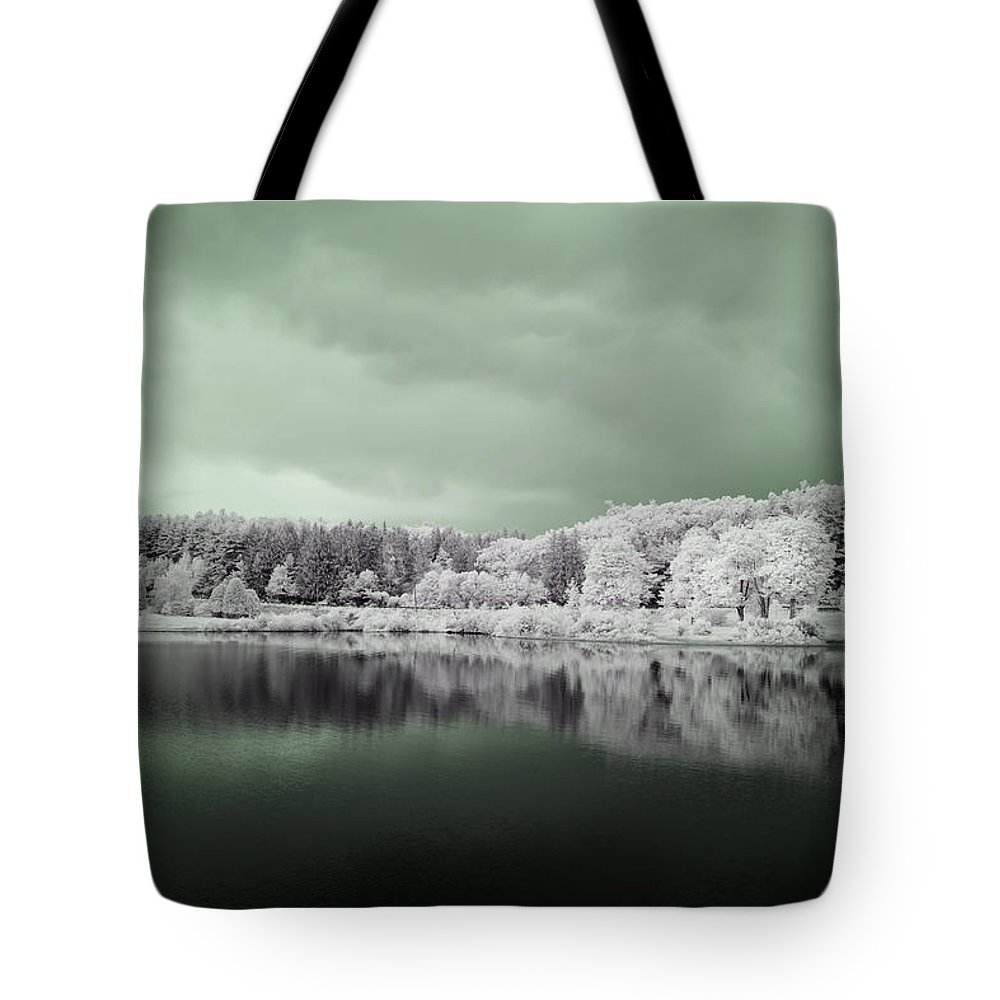 Wachusett Reservoir Tote Bag featuring the photograph Stormy Friday by Luke Moore