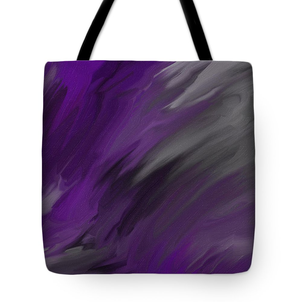 Abstract Tote Bag featuring the painting Stormy Night by Jessica Harper-Haggler