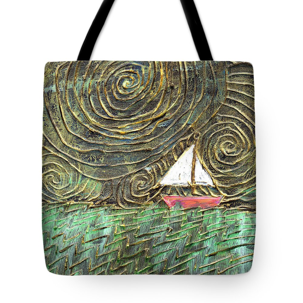 Storm Tote Bag featuring the painting Stormy Night by Wayne Potrafka