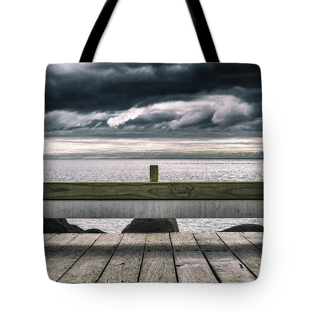 Landscape Tote Bag featuring the photograph Stormy Ocean by Russ Dixon